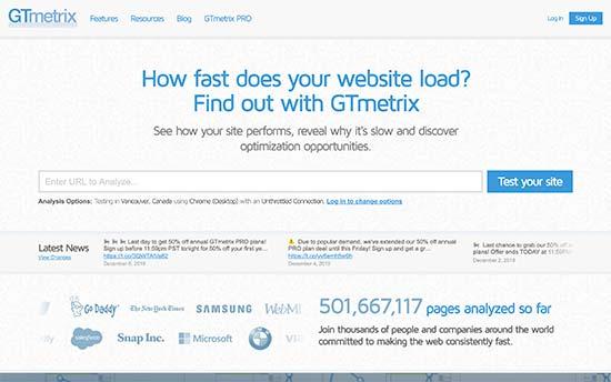 تست سرعت سایت با جی تی مترکس