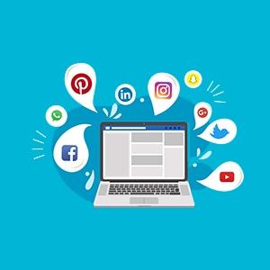 دکمه های شبکه اجتماعی