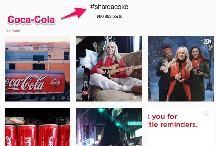 استفاده از هشتگ توسط کوکا کولا