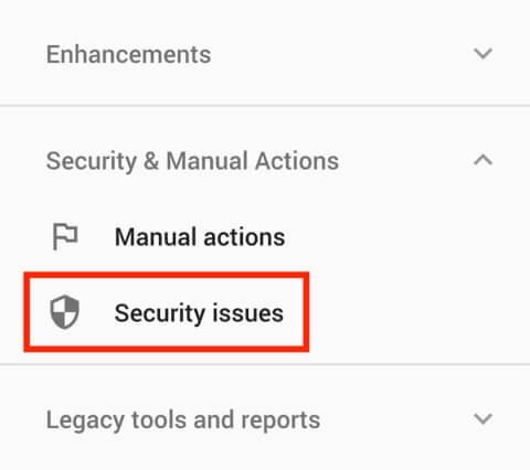 چک کردن مشکلات امنیتی در سرچ کنسول