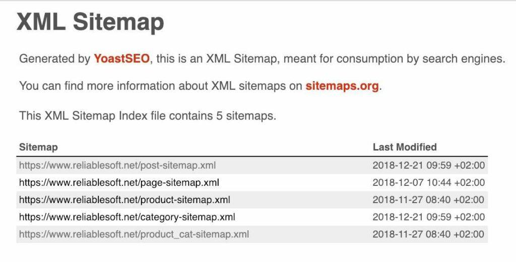 نمونه ای از سایت مپ XML